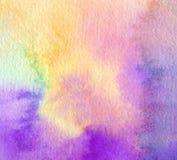 Abstraktes Acryl und Aquarell gemalter Hintergrund Stockbilder