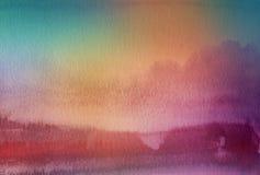 Abstraktes Acryl und Aquarell gemalter Hintergrund Lizenzfreies Stockbild
