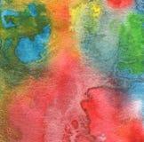 Abstraktes Acryl und Aquarell gemalter Hintergrund Gekrümmte (Papier) Beschaffenheit Lizenzfreies Stockbild