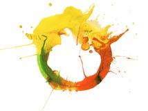Abstraktes Acryl und gemalter Hintergrund des Aquarells Fleck Beschaffenheit lizenzfreie stockfotografie