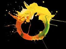 Abstraktes Acryl und gemalter Hintergrund des Aquarells Fleck Beschaffenheit Stockfotos