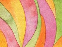 Abstraktes Acryl und gemalter Hintergrund des Aquarells Kreis Stockbilder