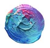 Abstraktes Acryl und gemalter Hintergrund des Aquarells Kreis Lizenzfreie Stockfotos