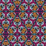 Abstraktes afrikanisches nahtloses Muster Stockfotos