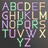 Abstraktes Alphabet bunt Stockbild