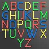 Abstraktes Alphabet bunt Stockfotos