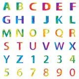 Abstraktes Alphabet des Vektors Lizenzfreies Stockfoto