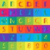 Abstraktes Alphabet des Vektors Stockfotos