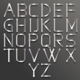 Abstraktes Alphabet mit Match Lizenzfreies Stockbild