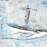 Abstraktes altes Blaues und Grau malten Acryl, oder Ölfarben masern Hintergrund Lizenzfreies Stockbild