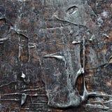 Abstraktes altes braunes und silbernes gemaltes Acryl oder Ölfarben masern Hintergrund Lizenzfreie Stockbilder