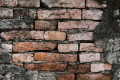 Abstraktes altes Wandshow-Ziegelsteinmuster Lizenzfreie Stockbilder