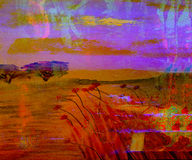 Abstraktes Aquarell Stockbild