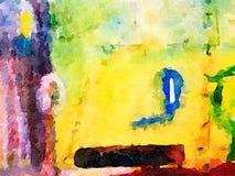 Abstraktes Aquarell auf Papier stock abbildung