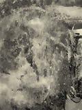 Abstraktes Aquarell auf Papier lizenzfreie abbildung