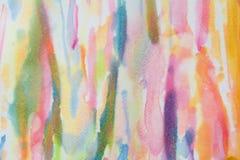 Abstraktes Aquarell auf Papier Abstrakter Farbenhintergrund Lizenzfreies Stockfoto