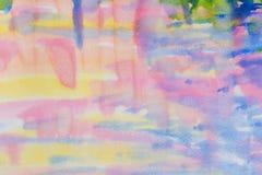Abstraktes Aquarell auf Papier Abstrakter Farbenhintergrund Lizenzfreie Stockfotos