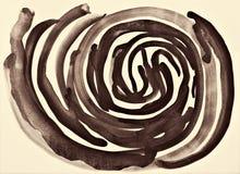 Abstraktes Aquarell auf Papierbeschaffenheit als Hintergrund In der Sepiatonne Lizenzfreies Stockbild