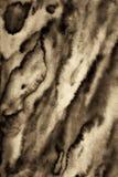 Abstraktes Aquarell auf Papierbeschaffenheit als Hintergrund In der Sepiatonne Lizenzfreies Stockfoto