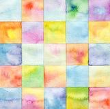 Abstraktes Aquarell gemalter Hintergrund Stockbild
