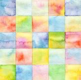 Abstraktes Aquarell gemalter Hintergrund stockbilder