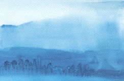 Abstraktes Aquarell malte Hintergrund Masern Sie Papier Stockfotos
