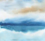Abstraktes Aquarell malte Hintergrund Masern Sie Papier lizenzfreies stockfoto
