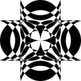 Abstraktes Arabesken-Kreuz-Linsen-Schnitt-Design Stock Abbildung