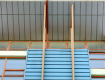 Abstraktes Architektur-Detail des Neubaus Stockfoto