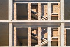 Abstraktes Architekturfragment im Bau Stockfotografie