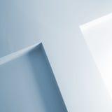 Abstraktes Architekturfragment, weiße Wandgestaltung Lizenzfreie Stockbilder