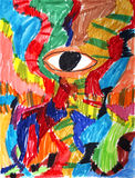 Abstraktes Auge Stockfoto