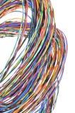 Abstraktes Bündel farbige Strudeldrähte Stockfotografie