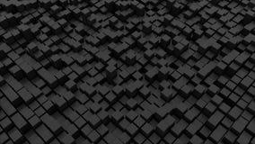 Abstraktes backgrund mit schwarzen Würfeln Stockbild