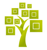 Abstraktes Baumzeichen - Vektor stock abbildung