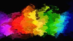 Abstraktes beflecktes farbenreiches Spektrum Musterrechteckhintergrunddes neonhöhepunkt-Regenbogens - moderne malende Kunst - stock abbildung