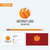 Abstraktes Bereichlogodesign Stockfotografie