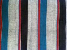 abstraktes Beschaffenheitsplaid-Baumwollgewebe des bunten Hintergrundes Lizenzfreie Stockfotografie