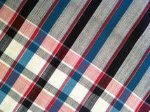 abstraktes Beschaffenheitsplaid-Baumwollgewebe des bunten Hintergrundes Lizenzfreie Stockbilder