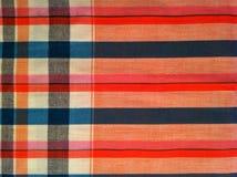 abstraktes Beschaffenheitsplaid-Baumwollgewebe des bunten Hintergrundes Stockfotografie