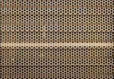 Abstraktes Bienennetz vom Gold rostfrei Lizenzfreies Stockfoto