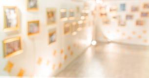 abstraktes Bild der Lobby einer Mitte der modernen Kunst Lizenzfreies Stockbild
