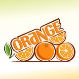 Abstraktes Bild der Orange Lizenzfreie Stockfotos