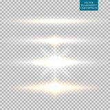 Abstraktes Bild des Beleuchtungsaufflackerns set Lizenzfreies Stockfoto