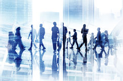 Abstraktes Bild des beschäftigten Lebens der Geschäfts-Leute Lizenzfreies Stockfoto