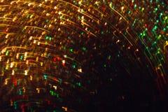 Abstraktes Bild des bunten Funkelns in der Bewegung Lizenzfreies Stockfoto