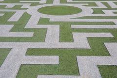Abstraktes Bild des Erdgeschosses des Labyrinths Stockbilder