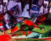 Abstraktes Bild des Glases, des Lichtes und der Farbe Stockbild