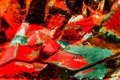 Abstraktes Bild des Glases, des Lichtes und der Farbe Stockfotografie