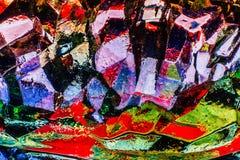 Abstraktes Bild des Glases, des Lichtes und der Farbe Stockfoto